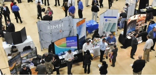 businesses at career fair