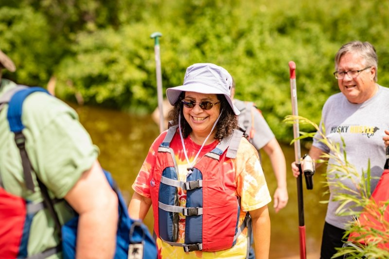 Alumni canoe trip