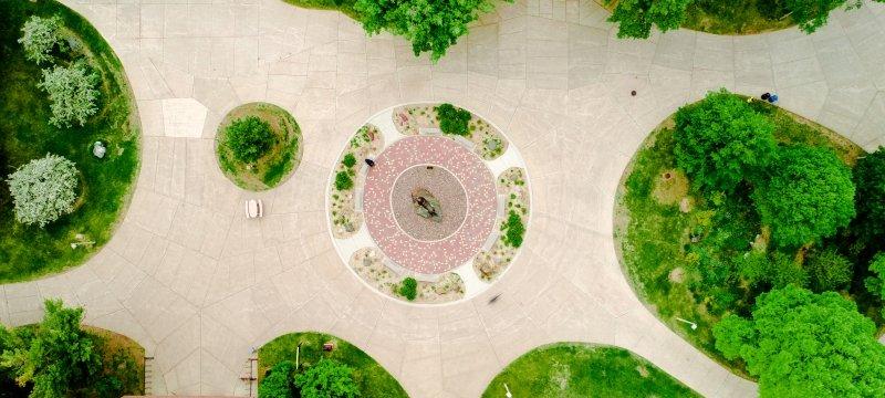 Aerial photo of Michigan Tech campus