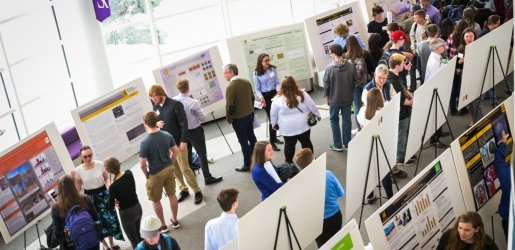 Overhead view of Undergraduate Research Symposium
