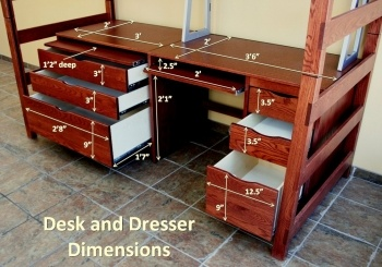 Hillside place dresser and desk dimensions