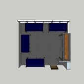 West McNair four person room 3D view form top