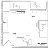 West McNair four person room floor plan