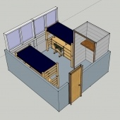 McNair room 3D picture from the side