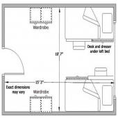 Wadsworth two person room floor plan