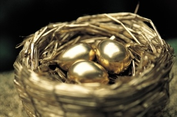 Golden eggs in a golden nest