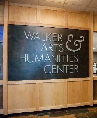 Walker Arts and Humanities Center sign