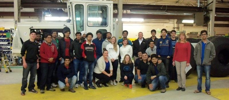 LCI student organization on a facility tour at Pettibone in Baraga Michigan