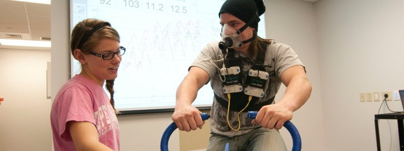 Student conducting tests in a lab