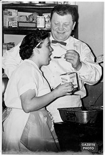 Archives photo from the Gazette: someone performing a taste test