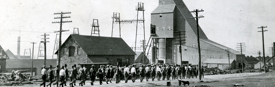 Archives photo: miners at the Quincy Mine.