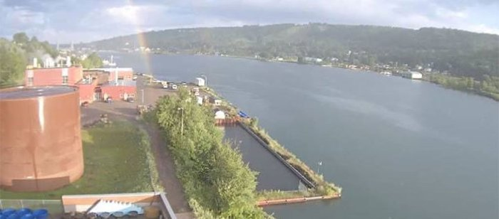 Captured from our webcam atop the GLRC!