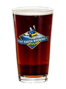 Flat Earth Brewing Co glass