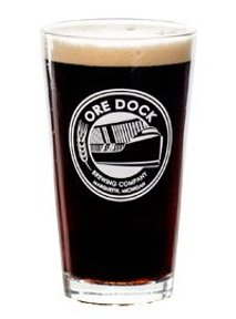 Ore Dock Brewing Company glass