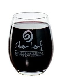 Silver Leave Vineyard and Winery glass
