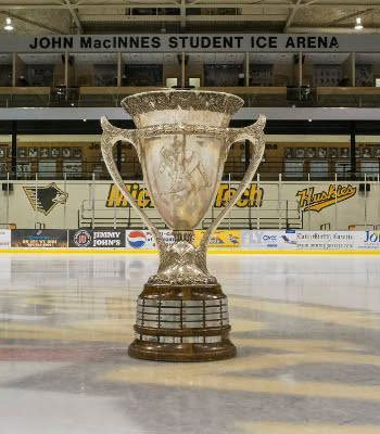 The MacNaughton Cup in the John MacInnes Student Ice Arena.