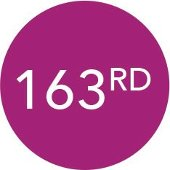 163rd in a purple circle.