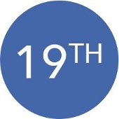 19th in a blue circle.