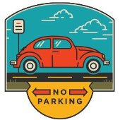 No parking icon.