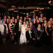 Kristine Guzak and Nick Johnson wedding party