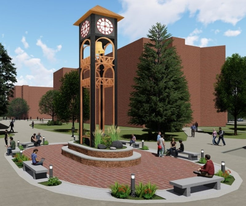 Artistic rendering of the clock tower.