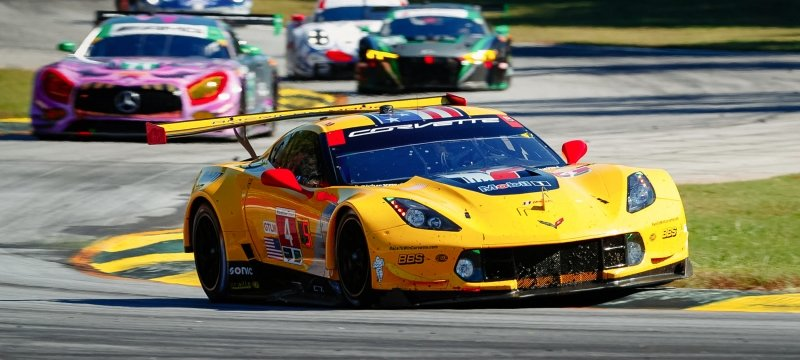 Corvette Racing car on the race track.