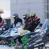 Clean Snowmobile contestants lined up.