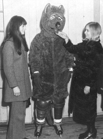Photo of Michigan Tech's mascot from the 1970s