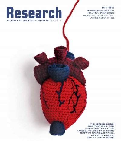 2015 Michigan Tech Research Magazine Cover Image
