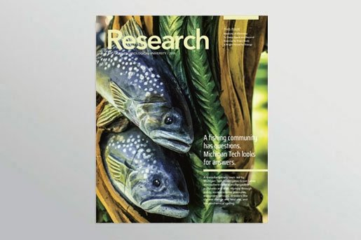 Cover of the 2018 Michigan Tech Research magazine.