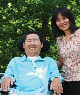 With help from his wife and research  partner, Qiuying Sha, statistical  geneticist Shuanglin Zhang has tracked  down three genes behind ALS, the  disease that has destroyed his ability to  move and speak.
