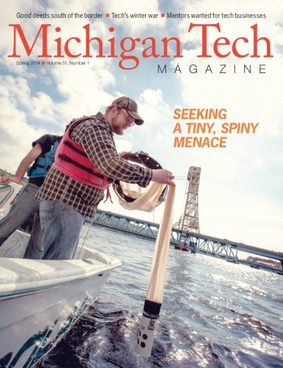 Spring 2014 Michigan Tech Magazine Cover Image