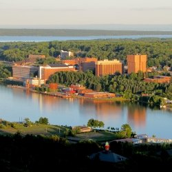 View overlooking Michigan Tech campus.