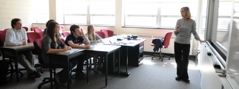 Students in a Mathematics course
