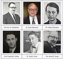 Portraits of six emeriti and distinguished faculty