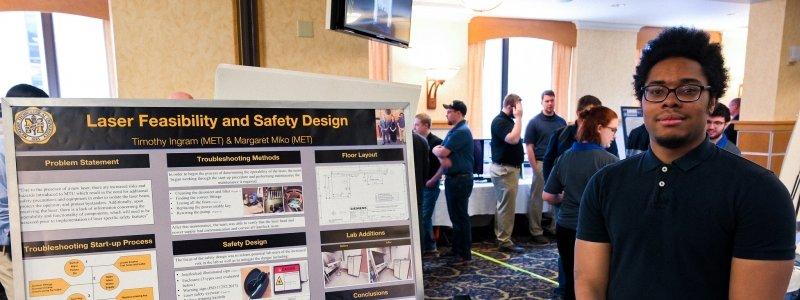 MET students participate in Design Expo.