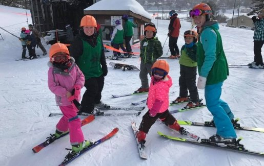 Children skiing at Mont Ripley.