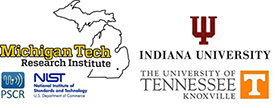 MTRI, Indiana University, University of Tennessee Knoxville, NIST, and PSCR logos.