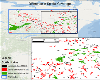 Colored spatial coverage map.