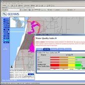 Screen shot from GLEAMS water quality index.