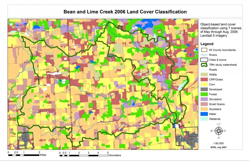 Sample land cover classification map.