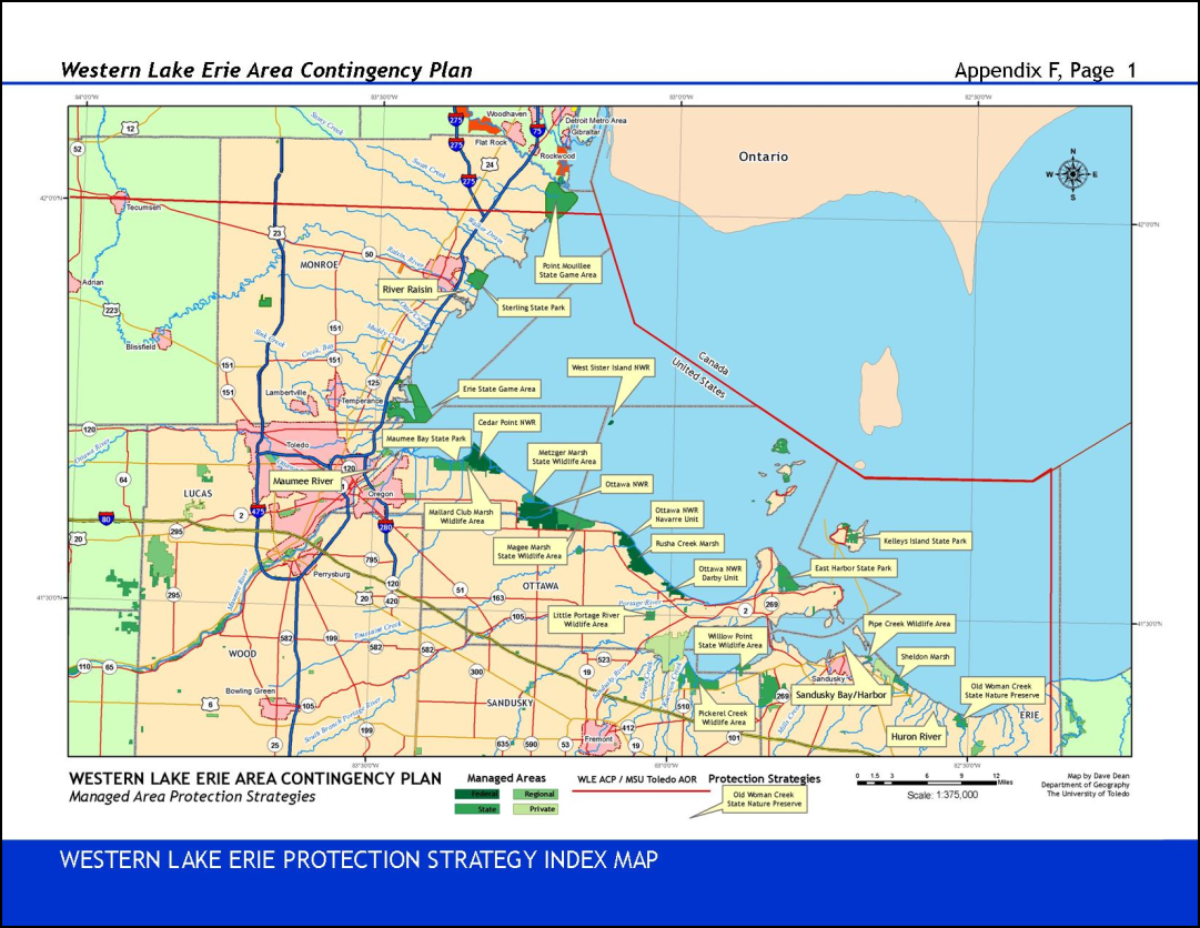 western lake erie map Application Of Geospatially Enabled Geographic Response Plans To western lake erie map