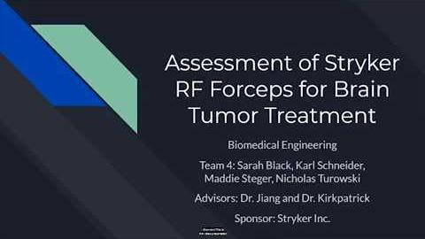 Preview image for 250: Assessment of Stryker RF Forceps for Brain TumorTreatment video