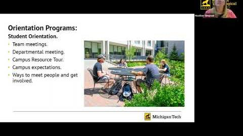 Preview image for Parents as partners: The transition to Michigan Tech video