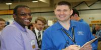 Graduate students at Career Fair