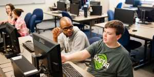 Alumni Arick Davis is no stranger to mentoring—he was a member of Copper Country Coders, Huskies who spend their free time teaching local kids how to code. Davis' official recruiting role for Tech today centers on promoting a diverse campus population.