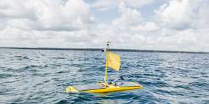 Camaro the wave glider spent 25 days in Lake Superior on a primary productivity data-collecting mission for NOAA. Michigan Tech's Great Lakes Research Center launched the glider and relayed commands to the vehicle during its deployment.