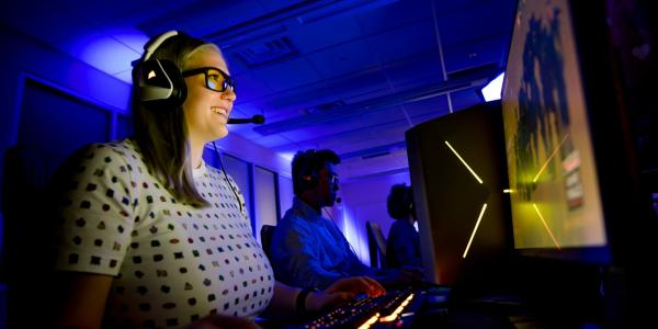Director of Esports Kaitlyn Roose is a doctoral researcher in the University's Games,       Learning, and Decisions Lab.