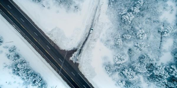 Pavement can be hard to find on some winter roads. Sensor technology and image processing       could help autonomous vehicles better navigate snowy conditions.