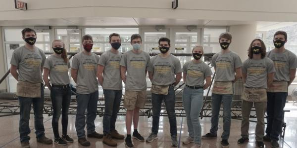 MTU's Steel Bridge Team competes from campus and wins two regional competitions.